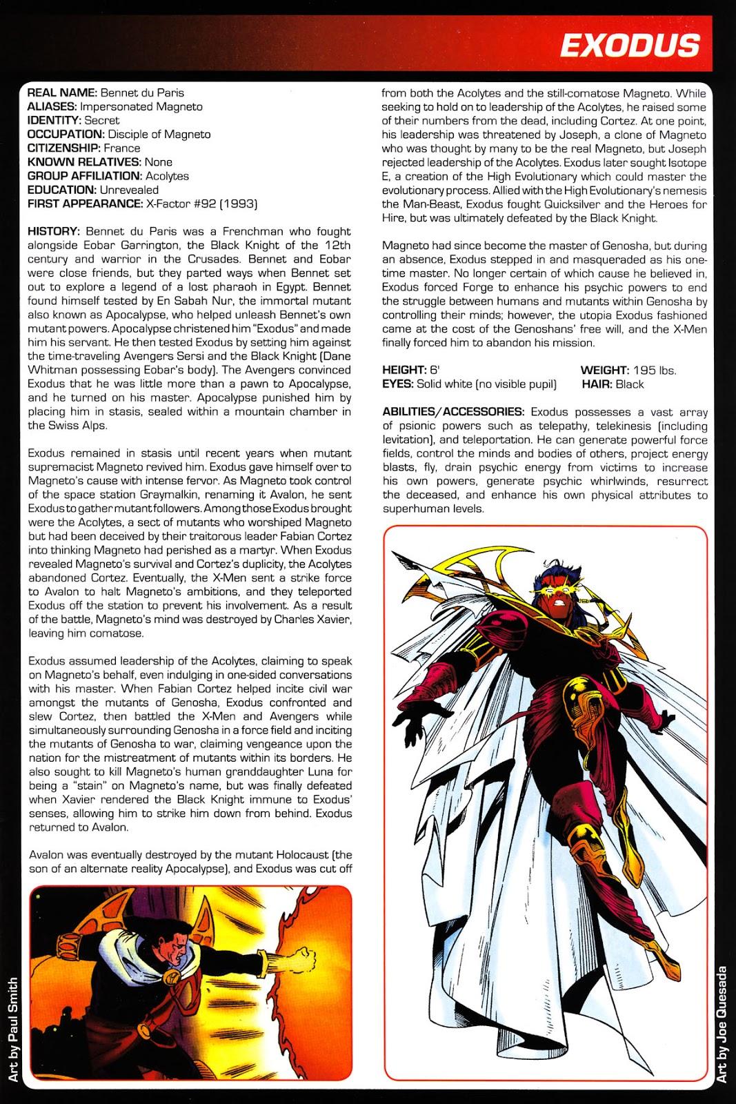 Fichas de Superheroes Marvel y DC: Exodo