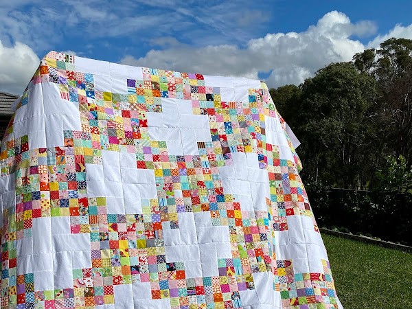 Twirling at the Disco Quilt (a finished top)