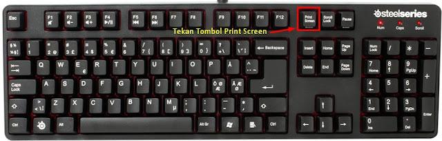 cara screenshot di komputer dengan print screen