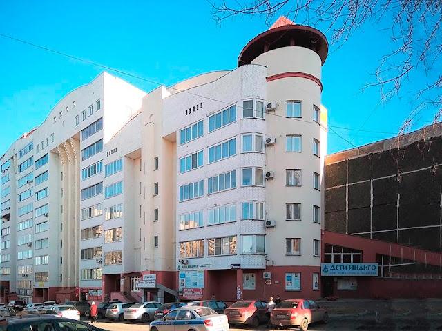 Фасад со стороны 6-ти этажной секции