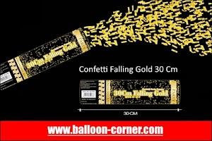 Party Popper Falling Gold / Confetti Falling Gold Ukuran 30, 40, 50, 60, 80, 100 Cm (GROSIR)