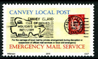 Canvey Local Post Emergency Mail Service Covid-19 Stamp