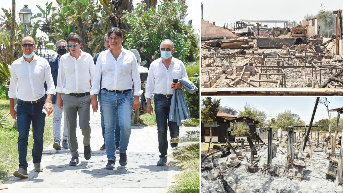 Sindaco Pogliese emergenza incendi zona sud Catania Sicilia Nello Musumeci