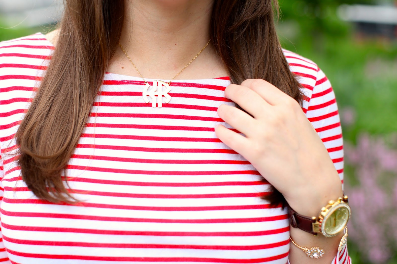 cheap monogram necklace, cheap double monogram necklace