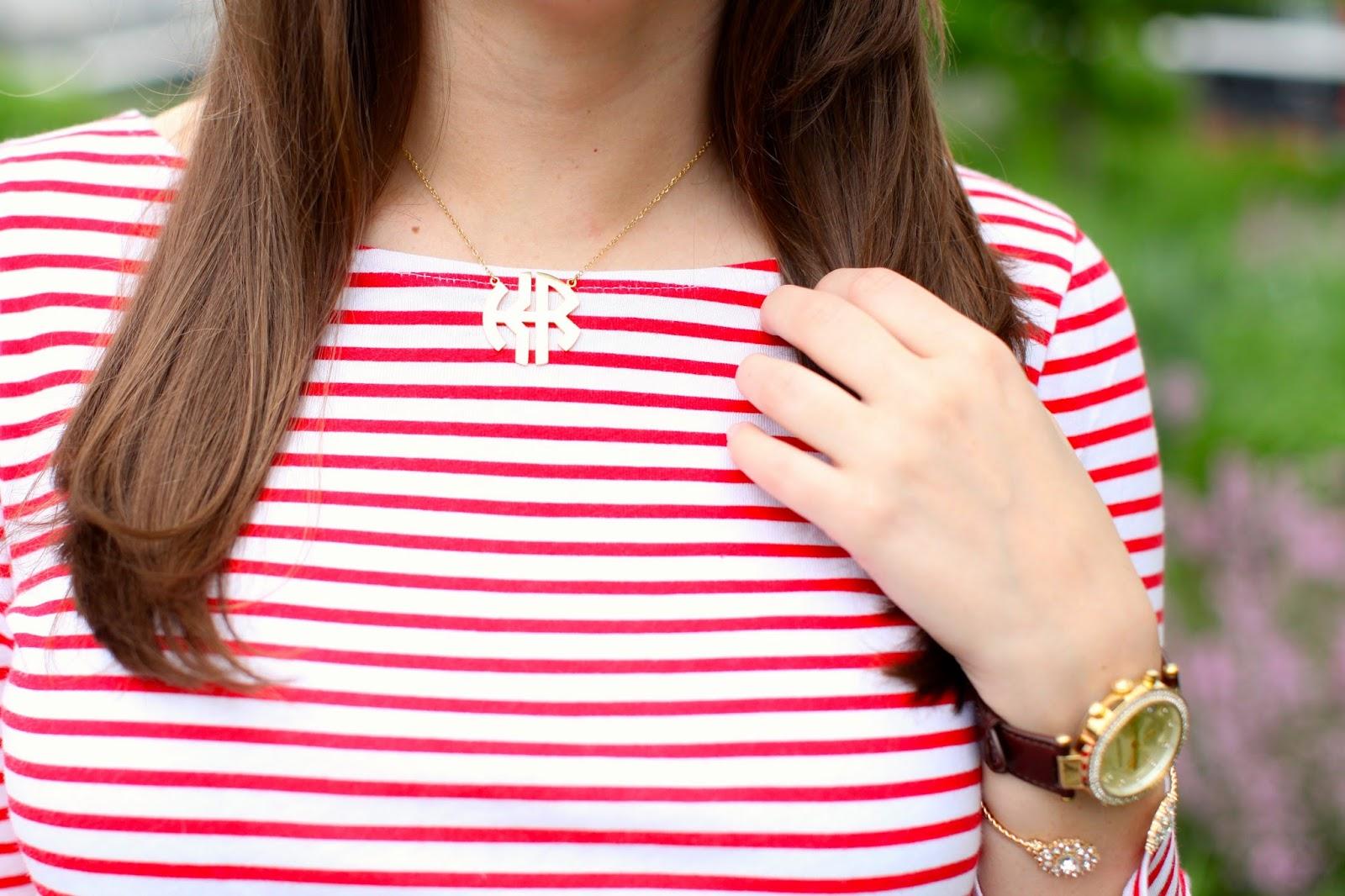 cheap monogram necklace, cheap double monogram necklace