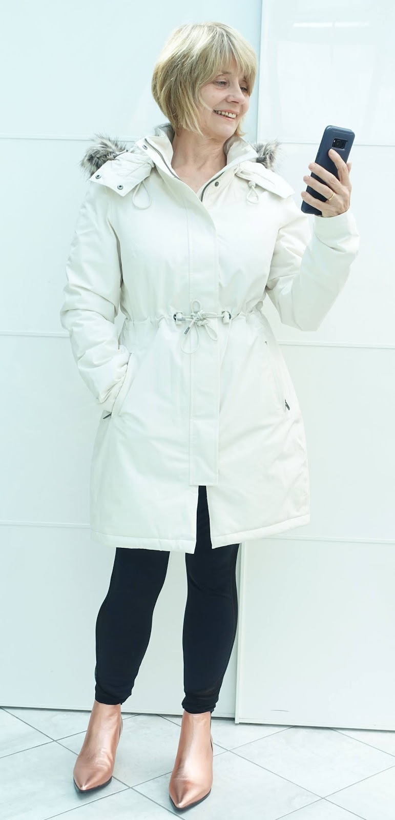 This Zaneck parka from The North Face is stylish and full of detail and technical features to repel rain and cold