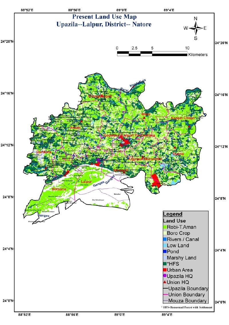 Lalpur Upazila Mouza Map Natore District Bangladesh