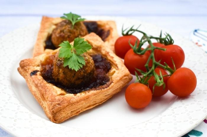 Mini Falafel Onion Pies