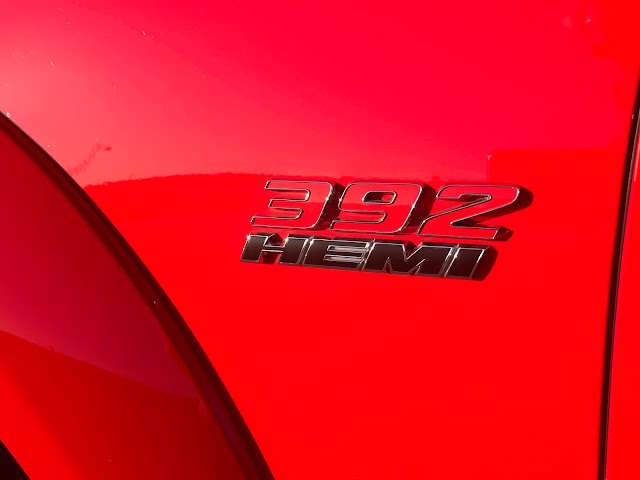 """""""392 HEMI"""" badge on 2020 Dodge Charger R/T Scat Pack Plus"""