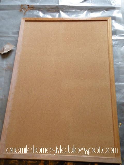 Preparing a bulletin board for paint