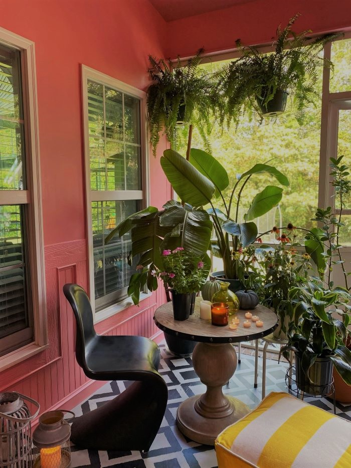 Our Porch Refresh: The Power Of Paint-#plants #porch-designaddictmom