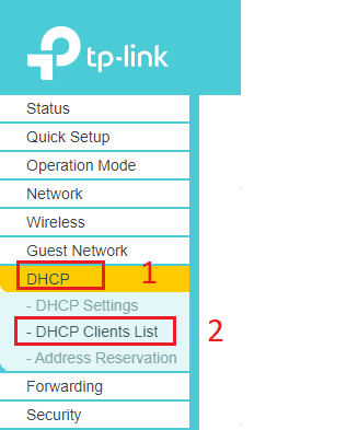 DHCP Router WIFI