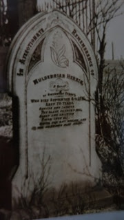 History: Cemetery headstone of Muldebriar Herrin, St Mary's Church, Birch, Lancashire