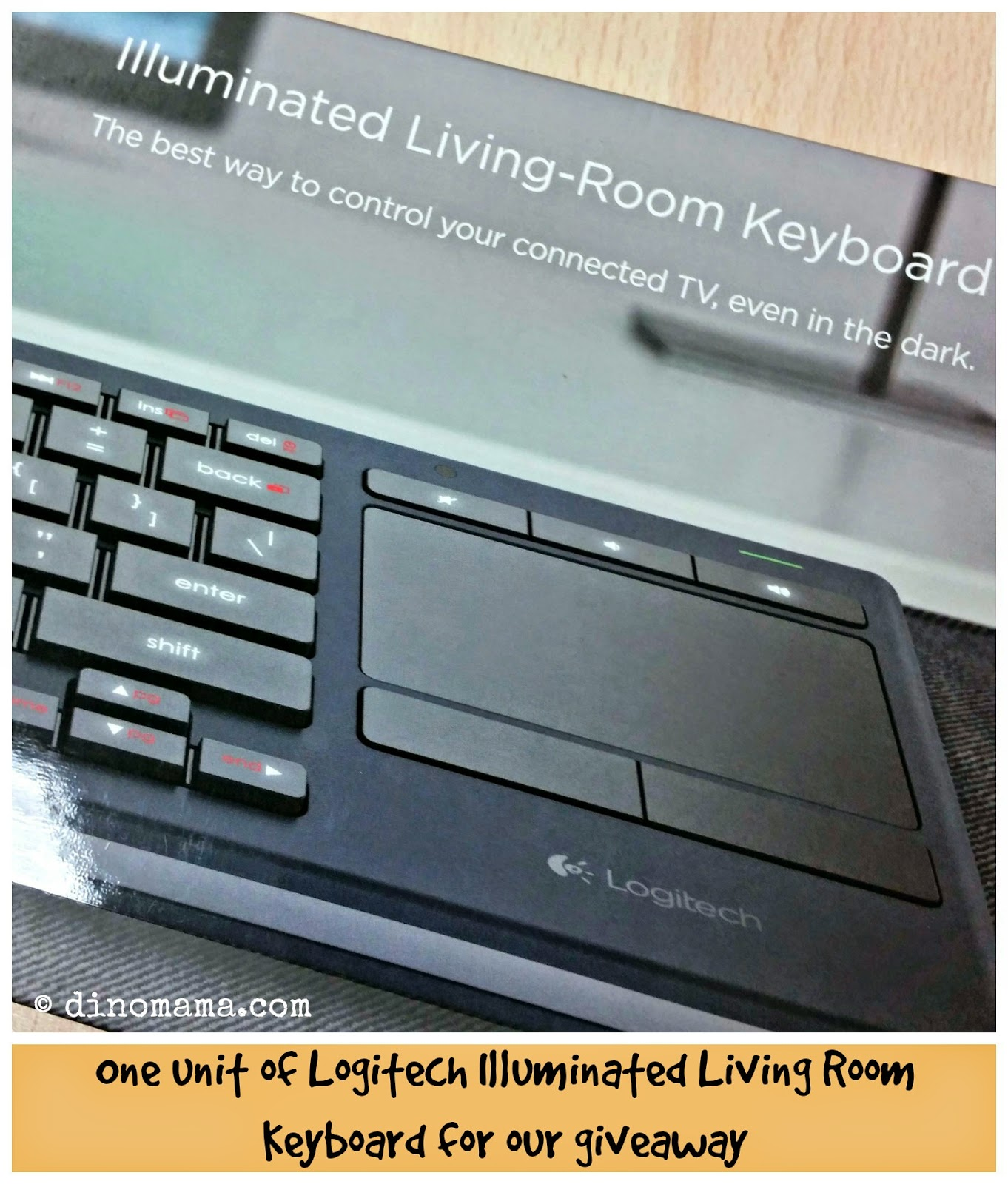 Logitech Illuminated LivingRoom Keyboard K830  We are