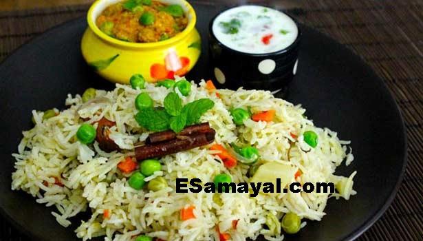 காஷ்மீர் வெஜிடபிள் புலாவ் செய்வது   Kashmir Vegetable Pulau Recipe !