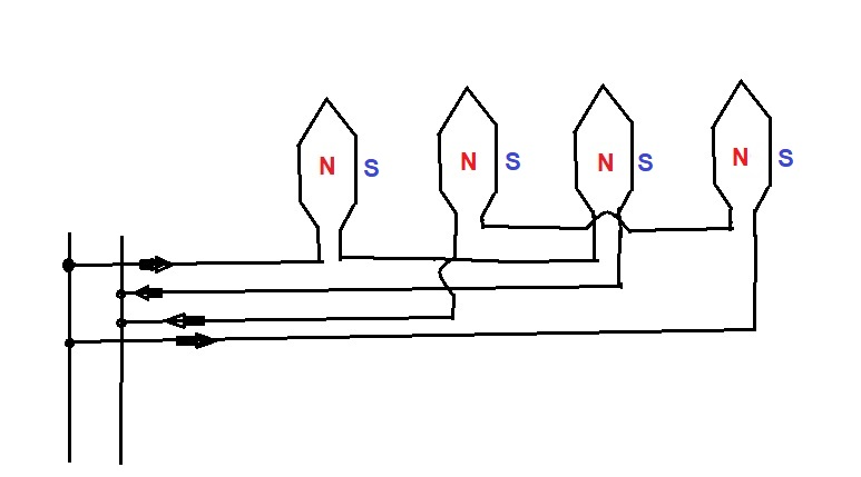 Speed control of induction motor by changing the pole circuit diagram