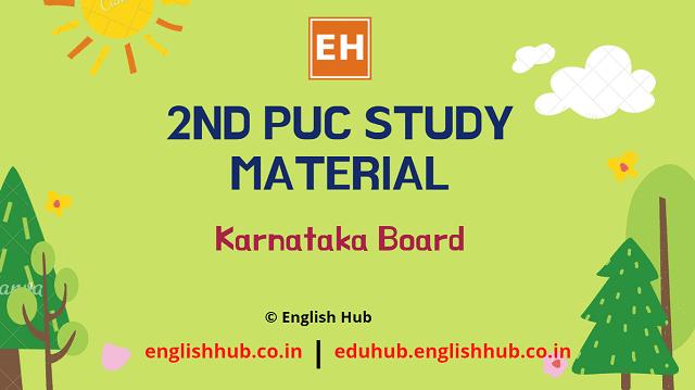 2nd PUC Study Material - English