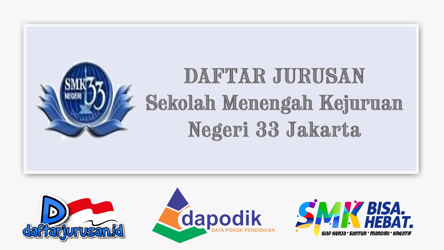 Daftar Jurusan SMK Negeri 33 Jakarta Utara