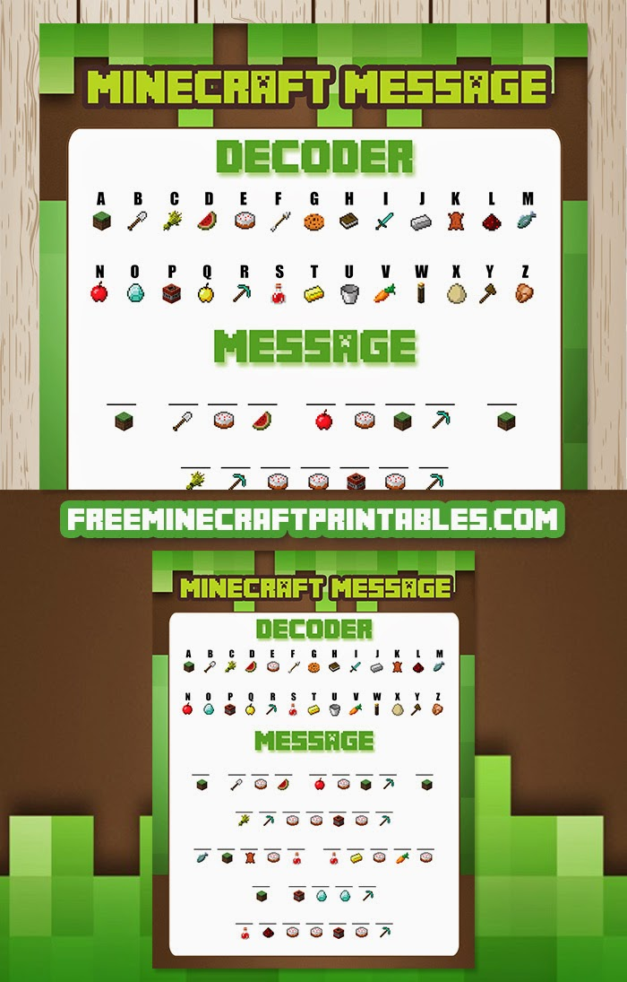 It's just a photo of Minecraft Labels Printable regarding menu