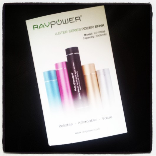 RAVPower Luster 3000mAH Compact External Battery Pack and Charger (boxed)