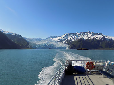 View of the Aialik Glacier from the Back of the Orca Voyager