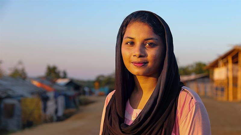 Akter, 20, expelled from university for being Rohingya