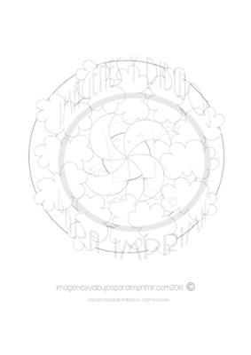 Mandala para niños del cielo