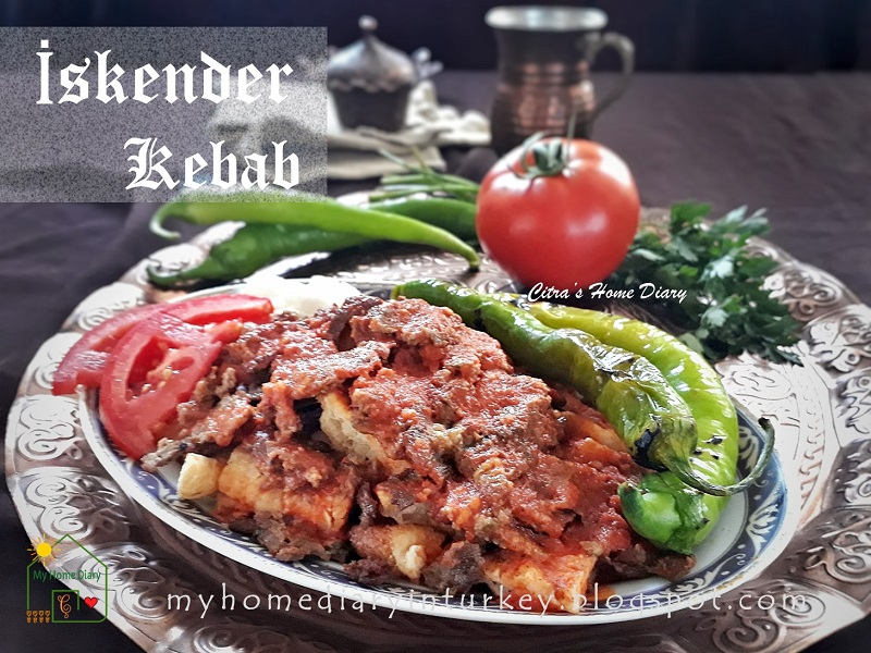 Turkish Food Recipe; ISKENDER KEBAB (Homemade) . With Video / İskender kebab tarifi | Çitra's Home Diary. #turkishcuisine #mediterraneanfood #kebabrecipe #iskenderkebabrecipe #resepmasakanturki #copycatrecipe #dinnerrecipe #kebab