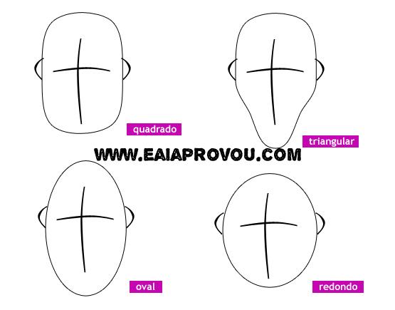 formatos de rosto masculino como saber? (1)
