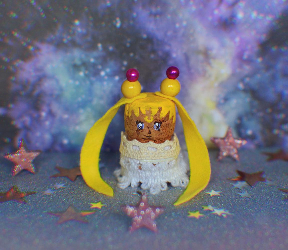 DIY: księżniczka Serenity z korka (Sailor Moon)