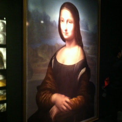 Facsimile of the portrait underneath the Mona Lisa