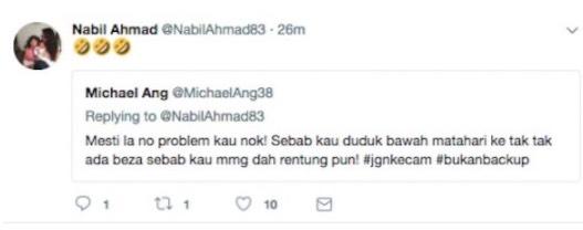Peminat Fattah Amin Serang Nabil Ahmad
