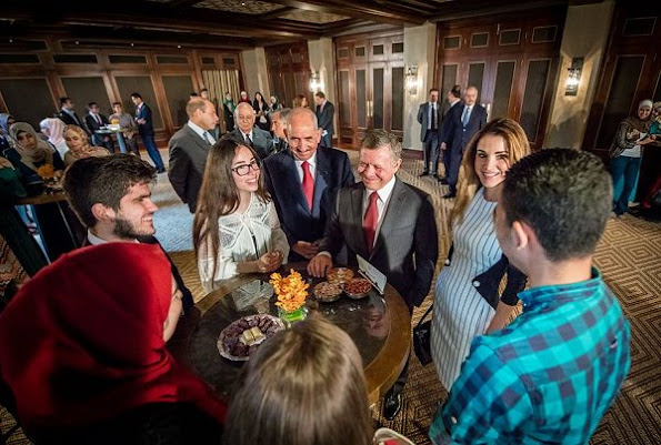 King Abdullah and Queen Rania met with Jordan's Olympics team