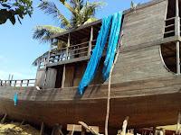 Jual Cepat Body Kapal Phinisi Panjang 24 Meter Harga Rp 700 Juta