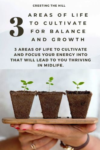 3 areas of life to cultivate and focus your energy into that will lead to you thriving in Midlife.