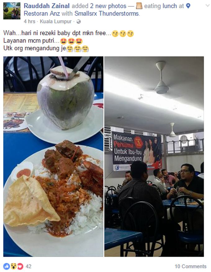 Free Meal for Pregnant Women in KL