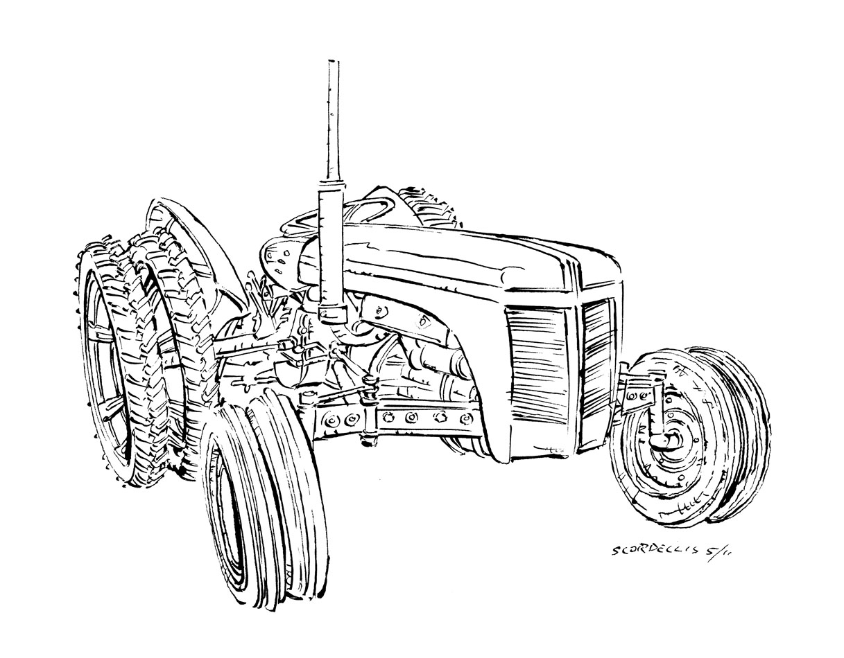 wiring diagram ford jubilee tractor � andy scordellis art tractors  stationary engines and