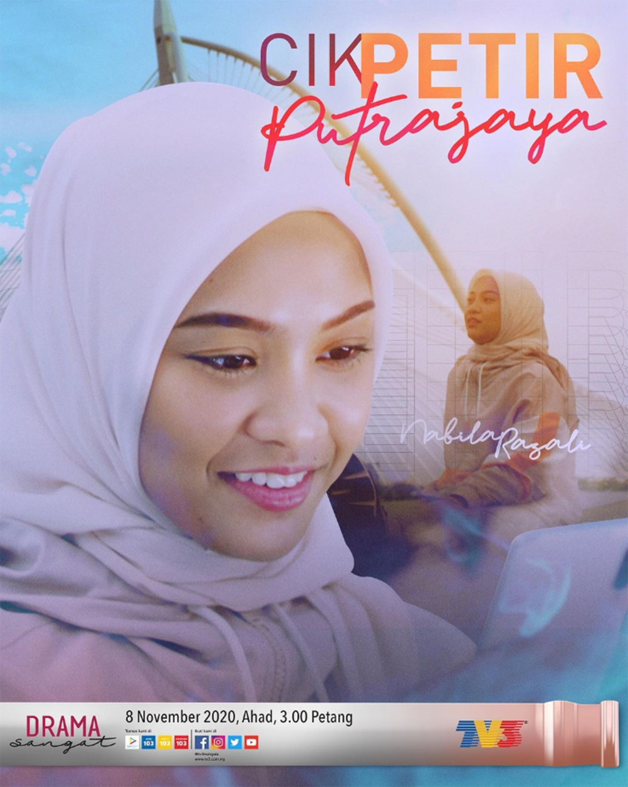 Telefilem Cik Petir Putrajaya Lakonan Nabila Razali dan Niezam Zaidi