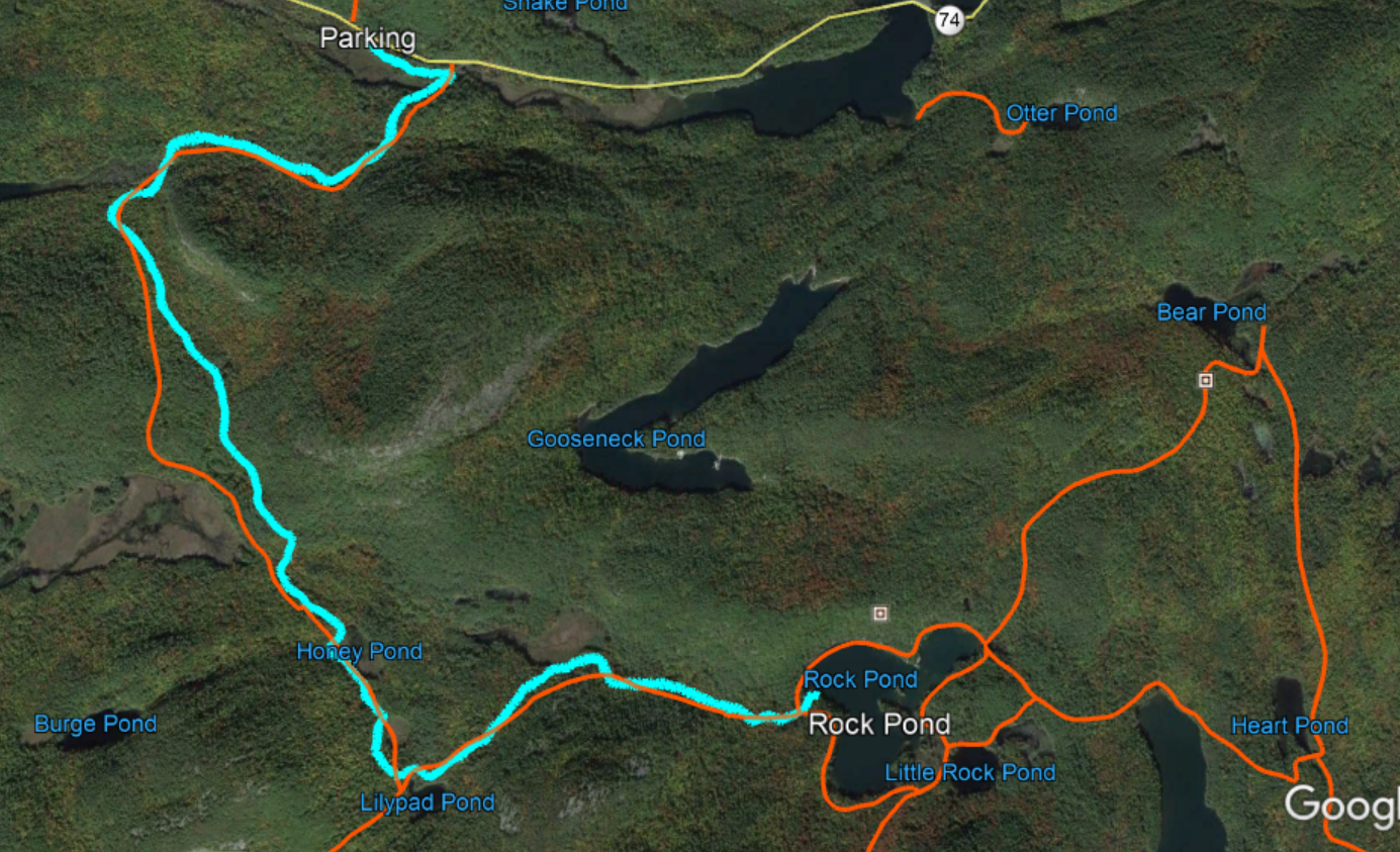the orange lines represent trails are represented in the nys department of environmental conservation s downloadable trails map