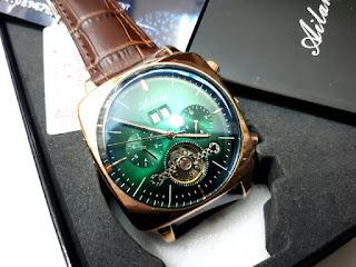 Jam Otomatis Ailang 8655 Chronograph Stainless Steel Waterproof Men Watch