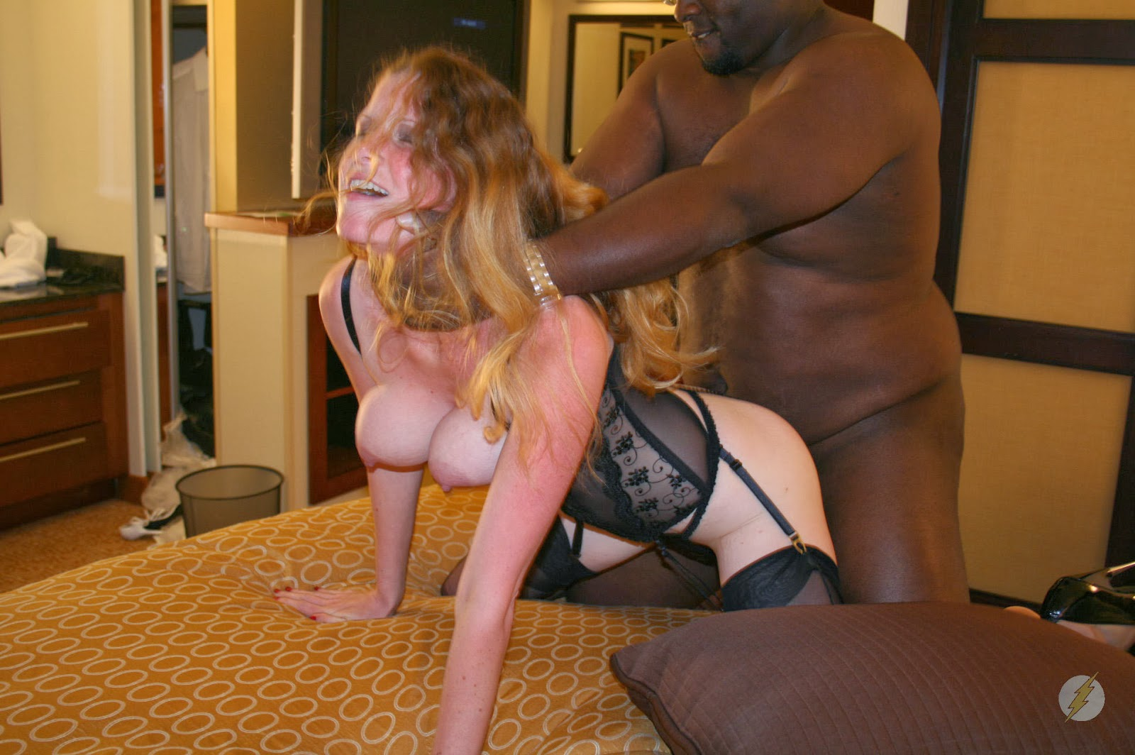 Black bull fucks busty white mom in front of her son 3
