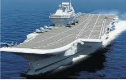 নৌবাহিনীর নতুন পালখ 'বিক্রান্ত'কে এই প্রথম জলে নামান হল