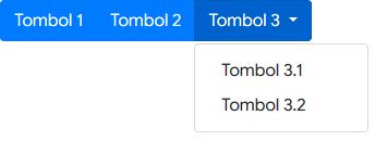 Menggabungkan Tombol Group dengan Dropdown Menu