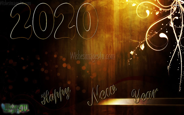 New Year 2020 Golden HD Photo Greetings