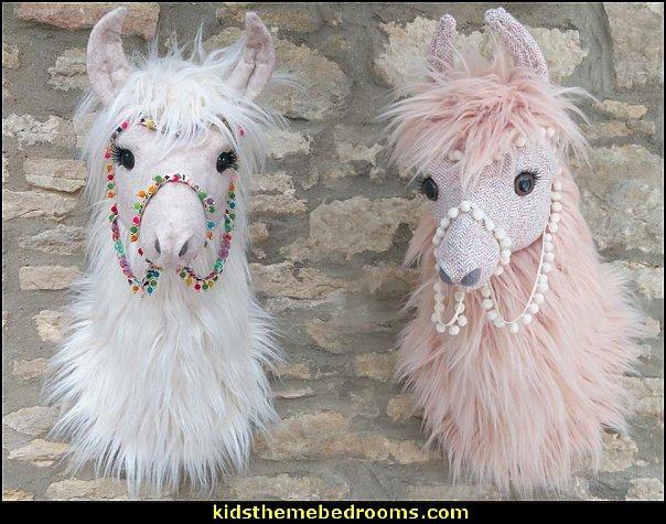 Lama head wall mounted animal head trophy llama head wall mount llama decor