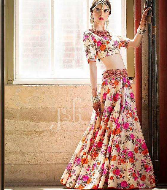 5cfa7390969ed 80 Best Floral Lehenga Styles to try this Wedding season