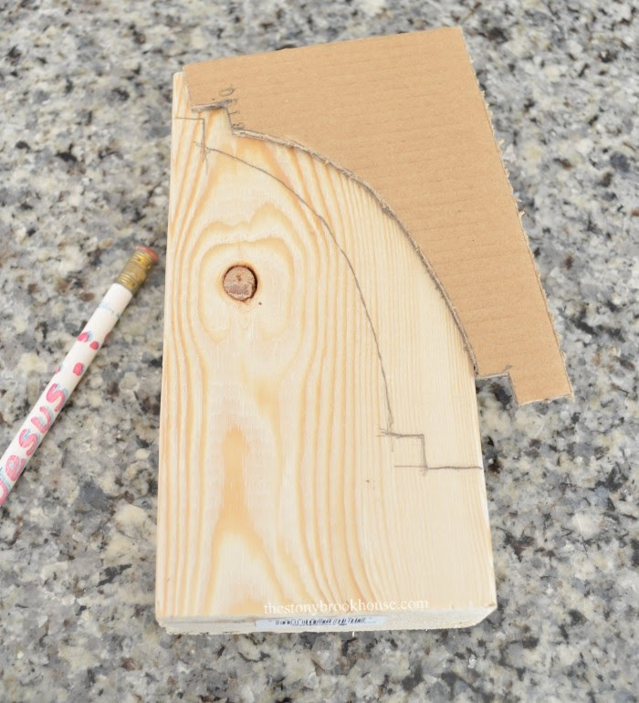 Tracing pattern onto wood