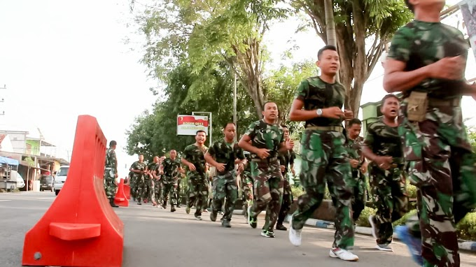 Lari Jalan, Isi Kegiatan Minggu Militer Prajurit TNI Kodim 0813 Bojonegoro