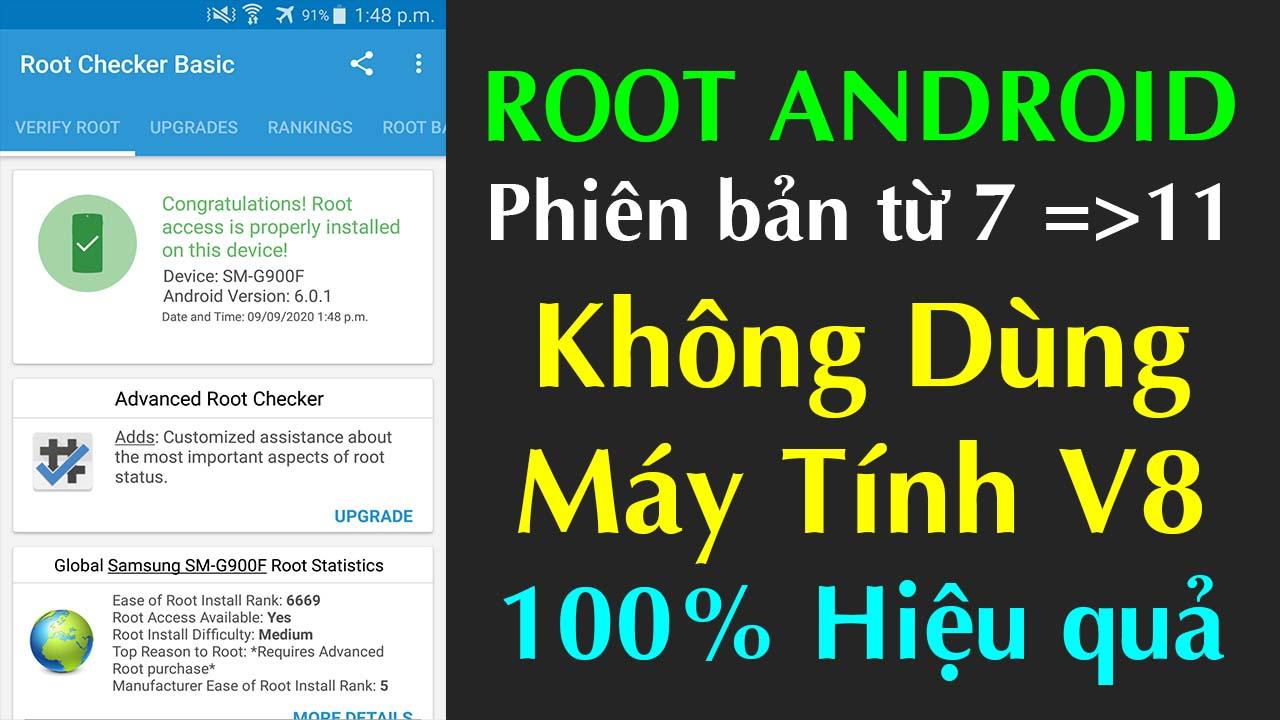 Tool Root V1 mọi điện thoại Android 7,8, 9... 100% thành công không cần máy tính 2021