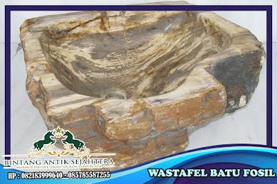 Wastafel Fosil Kayu | Wastafel Batu Fosil | Wastafel Cuci Piring